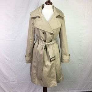 Worthington Tan Belted Double Breasted Trench Coat